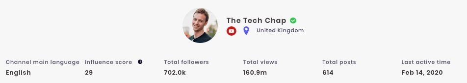 The Tech Chap has claimed his YouTube channel of SocialBook.