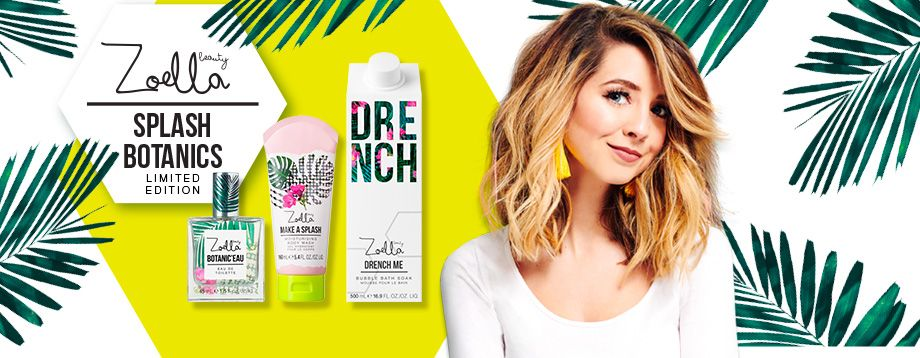 Zoe's own beauty brand Zoella.