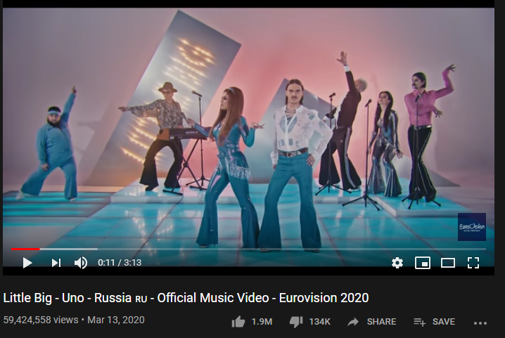 5th Most-liked YouTube video of March 2020: Little Big 'Uno' Music Video