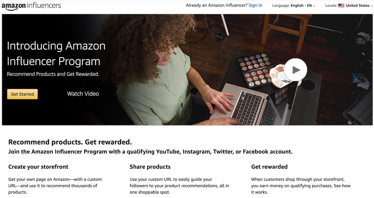 Amazon launched their influencer program to attract more customers.