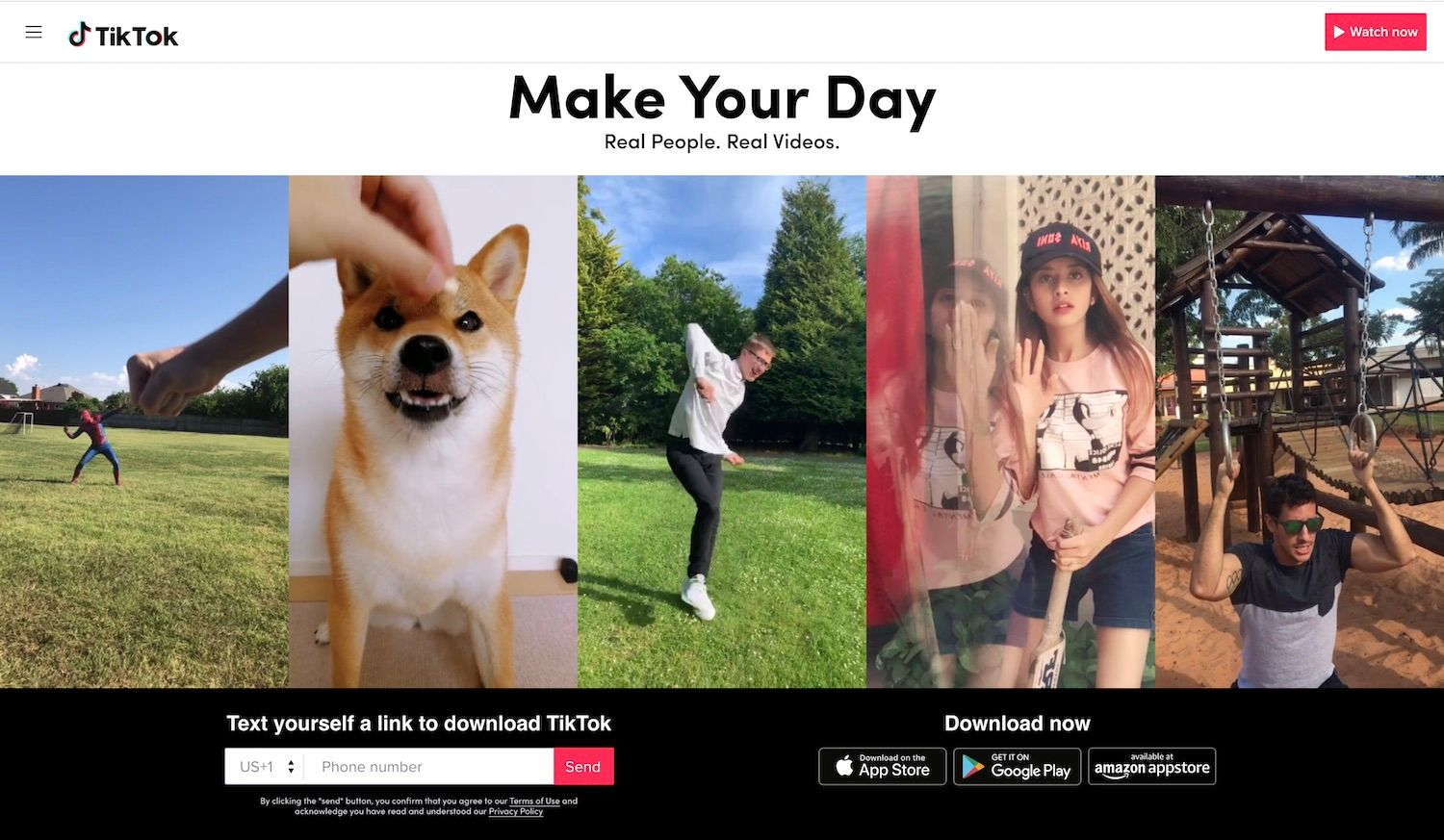 """Make Your Day"" is the slogan of TikTok."