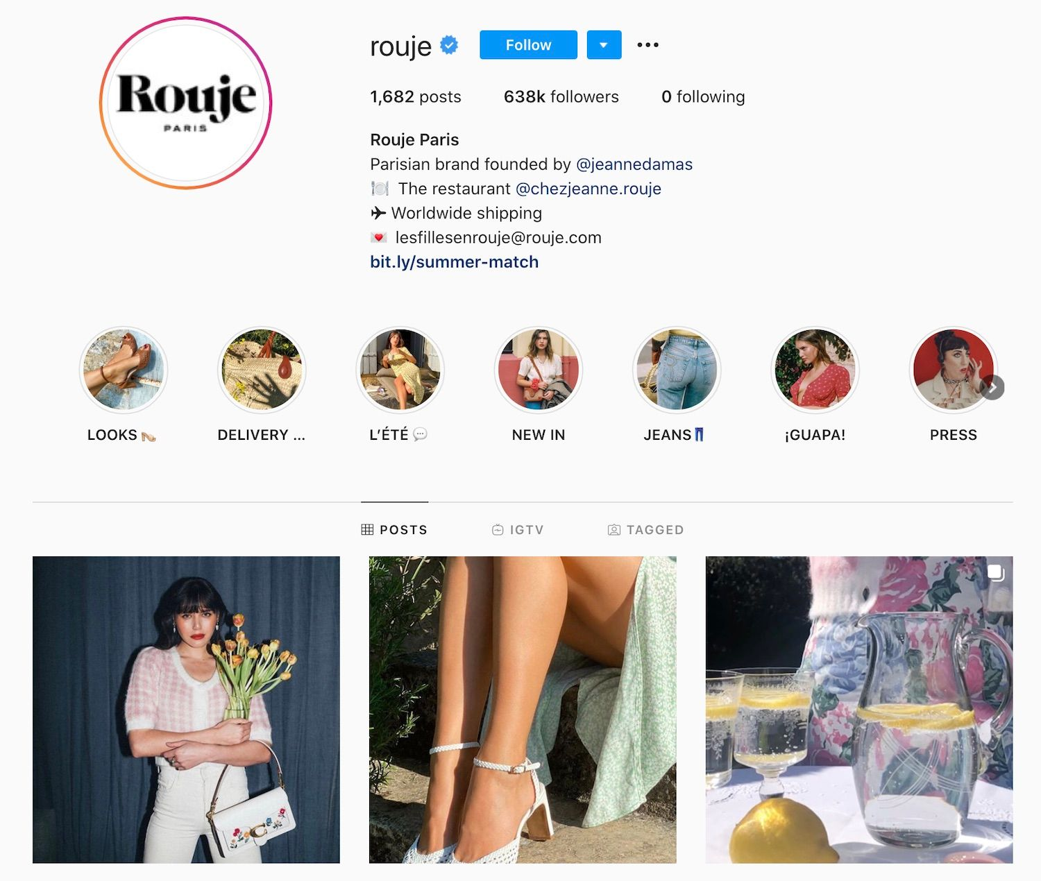 The Official Instagram Account of Rouje Paris