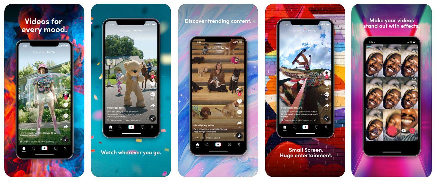 Screenshots of TikTok iOS App