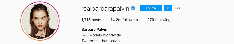 Barbara Palvin Strikes Instagram