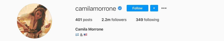 Camila Morrone Instagram