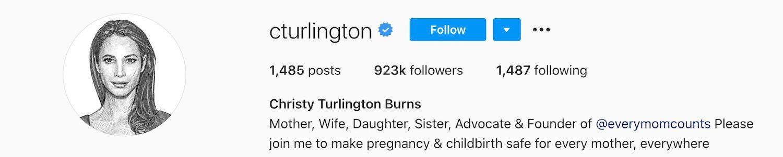Christy Turlington Instagram