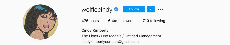 Cindy Kimberly Instagram