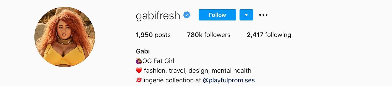 Gabi fresh Instagram