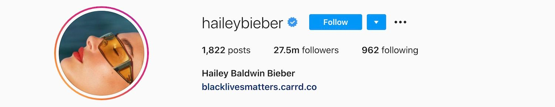 Hailey Baldwin Bieber Instagram