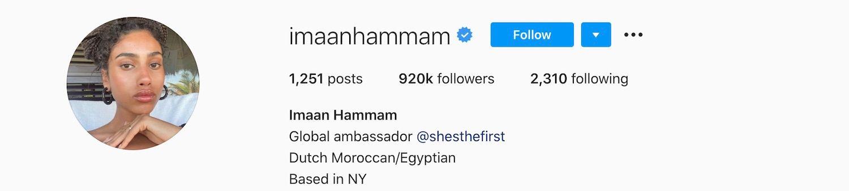 Imaan Hamman Instagram