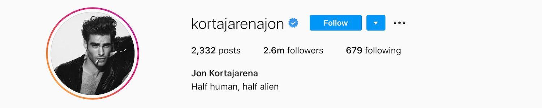 Jon Kortajarena Instagram