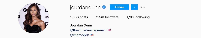 Jourdan Dunn Instagram