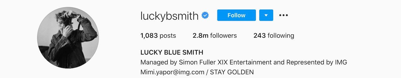 Lucky Blue Smith Instagram