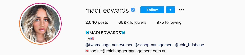 Madi Edwards Instagram