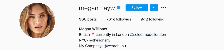 Megan Williams Instagram