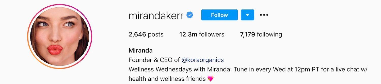 Miranda Kerr Instagram