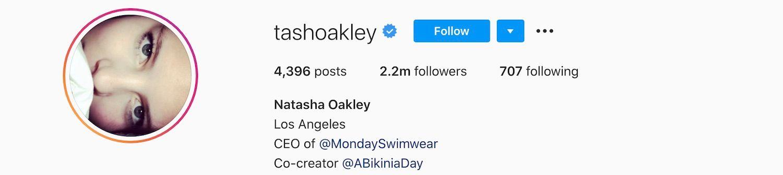 Natasha Oakley Instagram