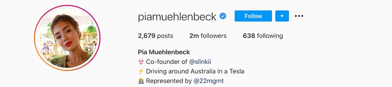 Pia Muehlenbeck Instagram