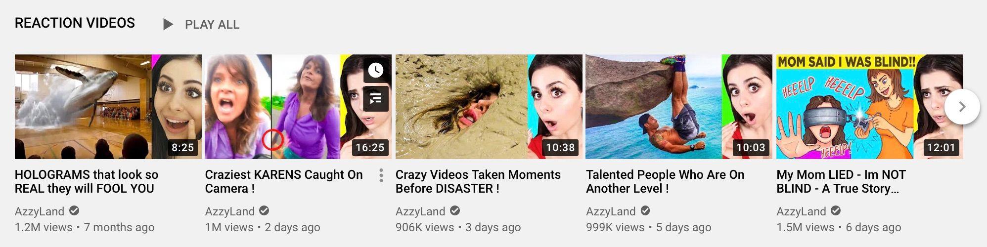 Azzyland - Reaction videos