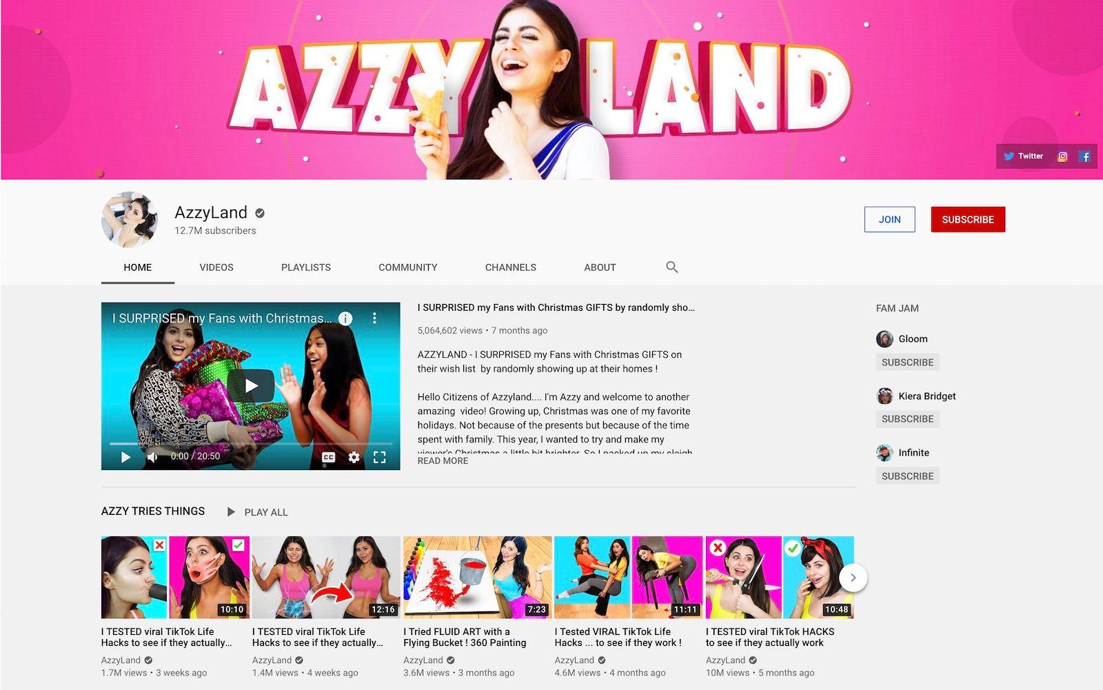 Azzyland YouTube