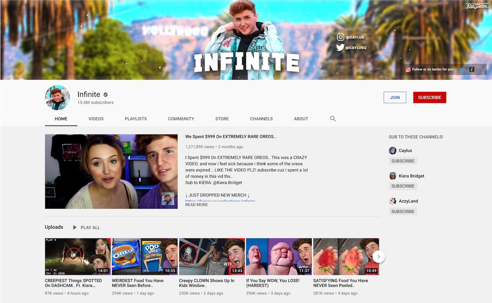 Infinite YouTube