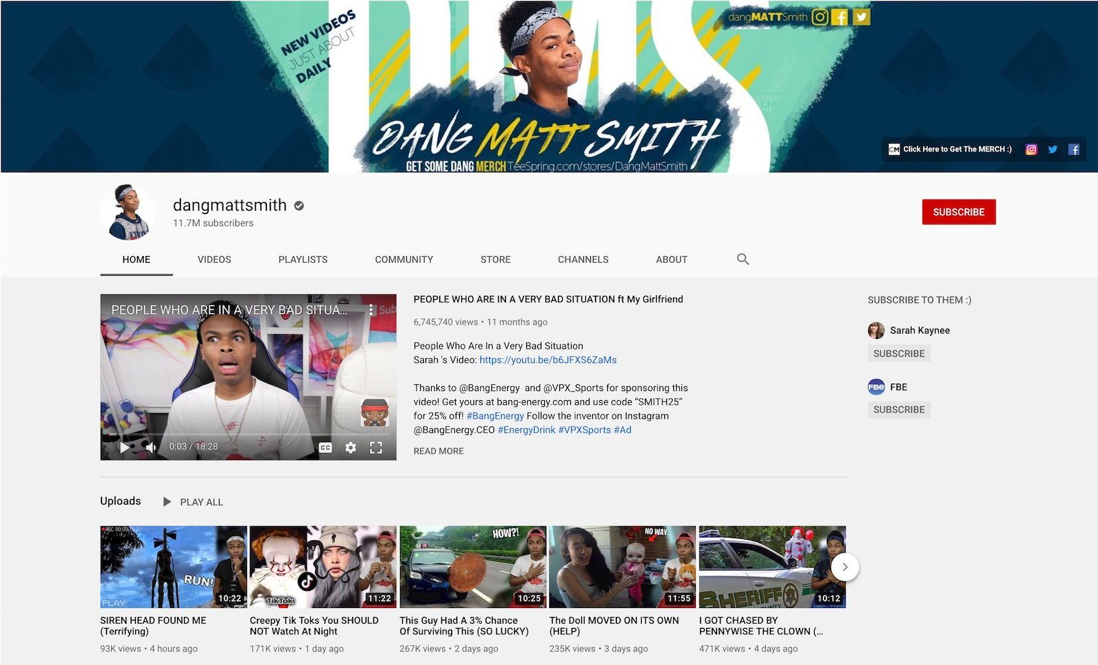 dangmattsmith YouTube channel