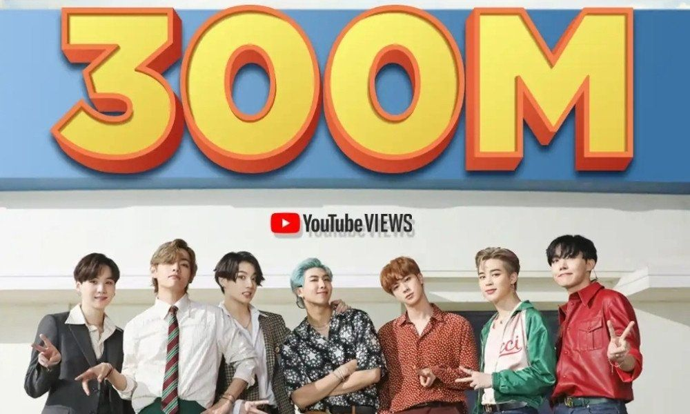 """Dynamite"" video of BTS has been watched over 300 million times on YouTube."
