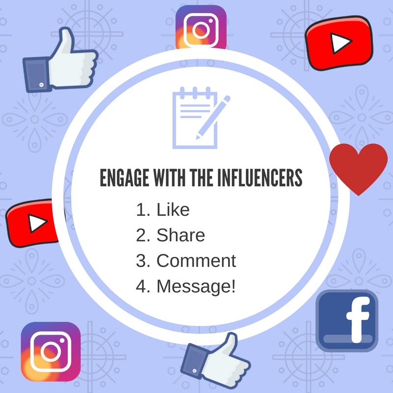 engage with influencers
