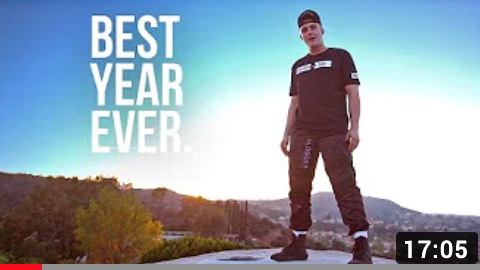 """Jake Paul also posted a """"BEST YEAR EVER"""" video."""