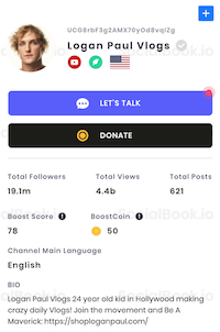 Logan Paul subscriber count