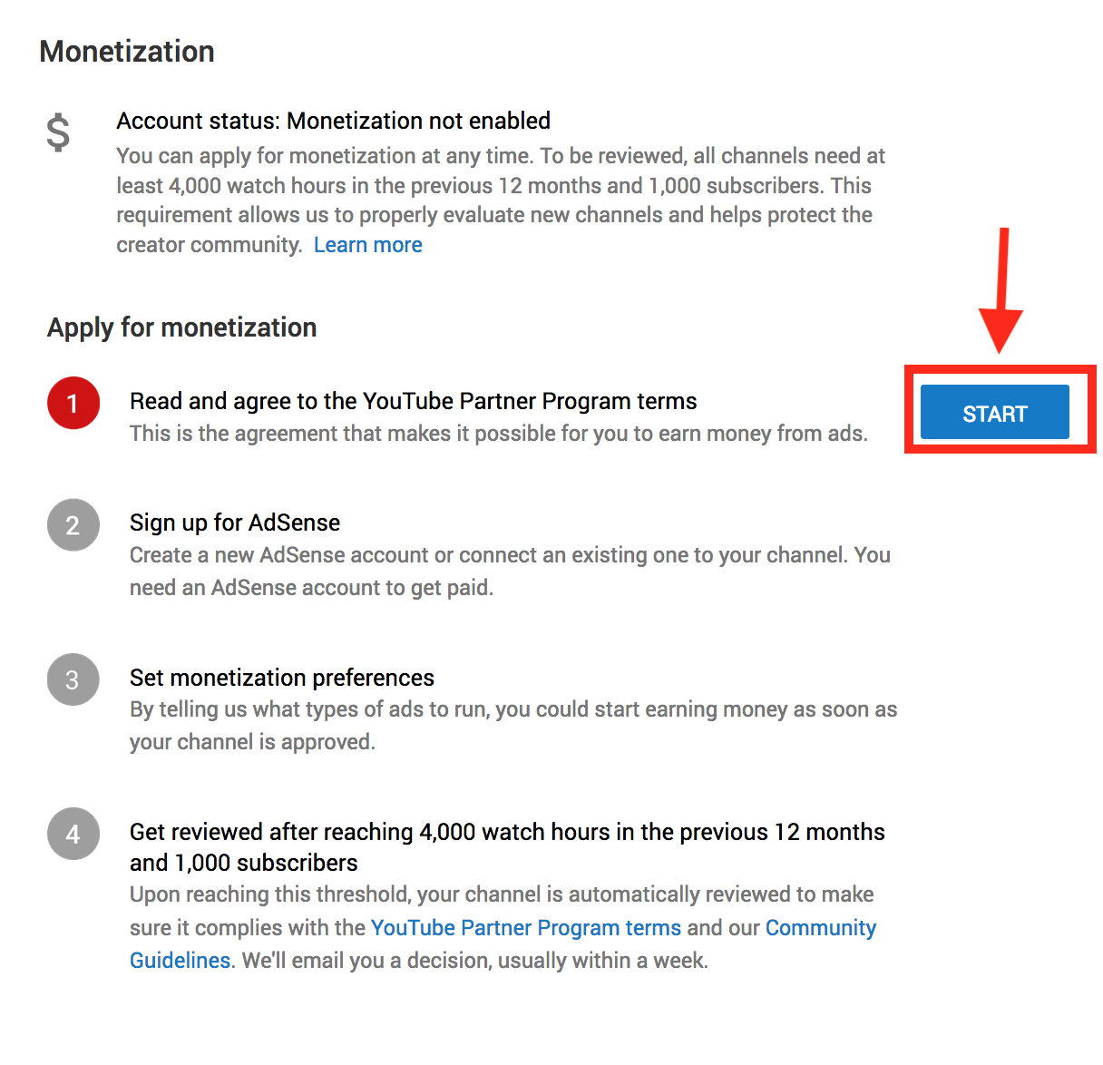 Apply for YouTube Monetization