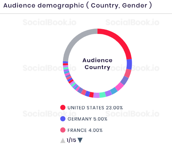 Audience Demographics of Taylor's Instagram account