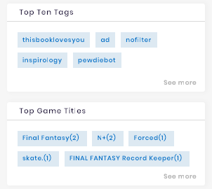 Top tags of an Instagrammer's channel