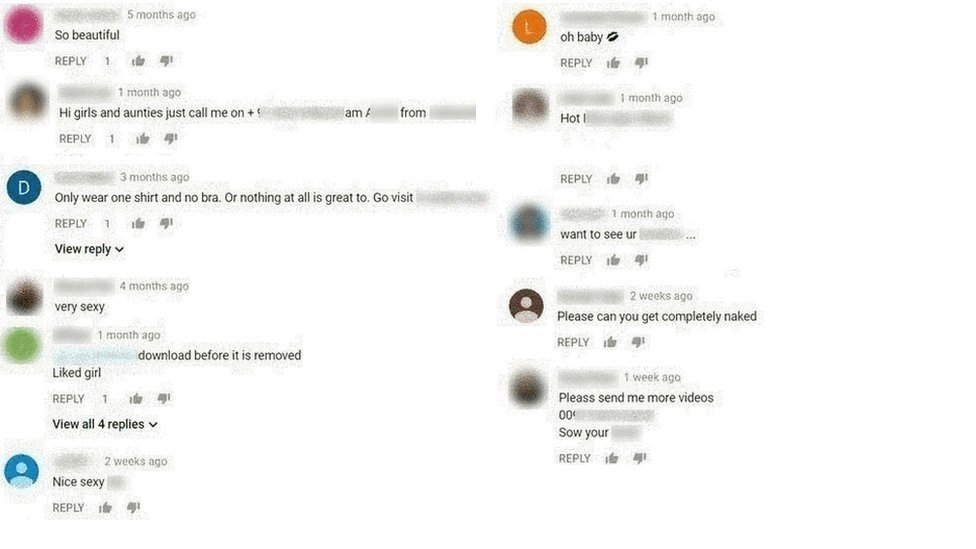 Inappropriate YouTube Comments