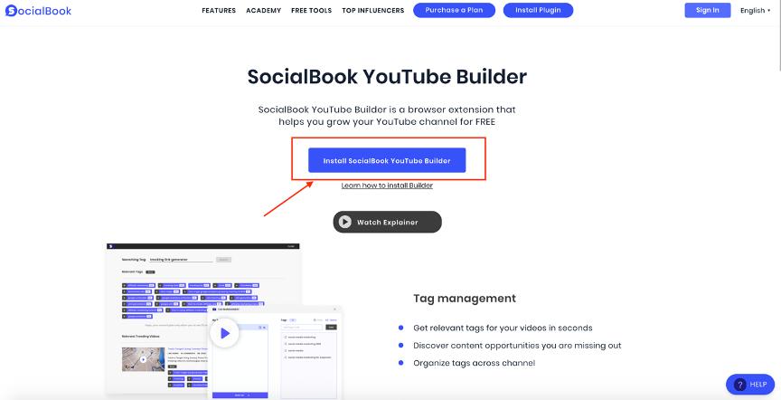 SocialBook Builder Intro link